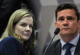Gleisi usa caso Queiroz para atacar Sergio Moro e a Lava Jato