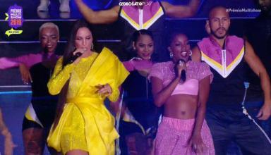 Ivete Sangalo e IZA subiram ao palco juntas (Reprodução/ Multishow)