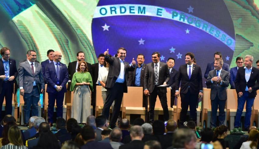 Wilson Lima e Bolsonaro abrem Feira de Sustentabilidade do PIM / Foto : Bruno Zanardo/Secom