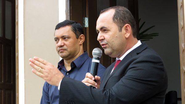 Prefeito de Tefé Normando Bessa e vice-prefeito Jean Pinheiro / Foto : No Amazonas é assim