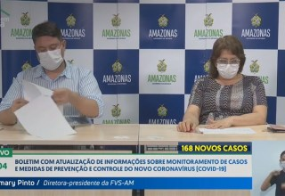 168 novos casos nas últimas 24 horas e agora são 804 confirmados de Covid-19 no Amazonas