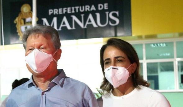Boletim mostra quadro de Covid-19 em Prefeito e Primeira Dama de Manaus