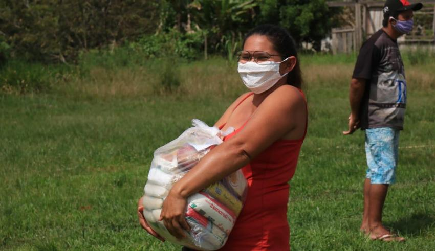 600 famílias quilombolas de Barreirinha são contempladas com cestas básicas / Divulgação