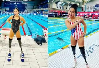 Atleta paralímpica dos EUA ,Haven Shepherd, foi presa a bomba quando bebê e perdeu as pernas/Foto: Instagram / reprodução