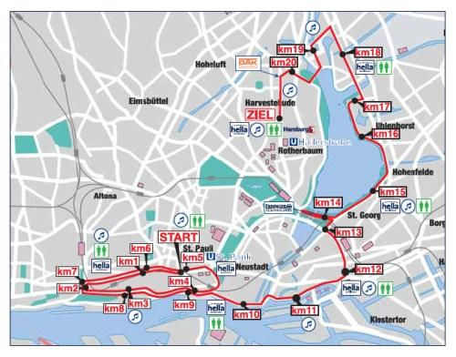 Hamburg Half Marathon Route