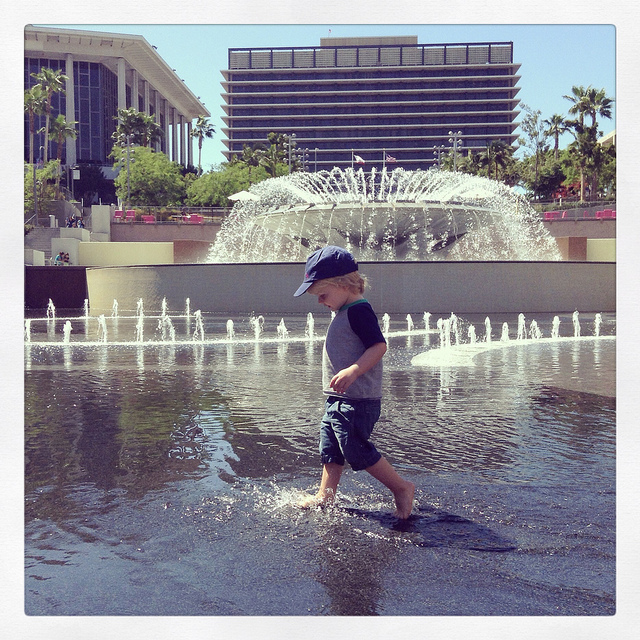 Relief On A Hot Day: Grand Park Splash Pad