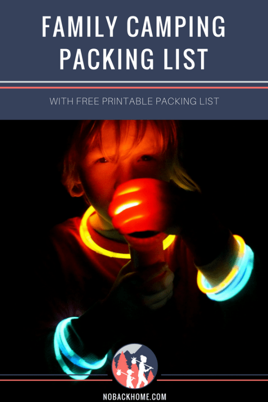 Family camping packing list with a free printable list for your next campout