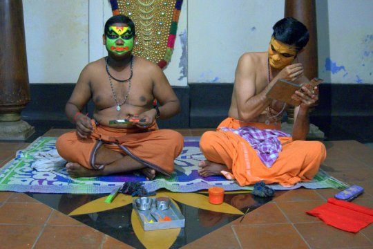 Kathakali Performers - Kerala with Kids