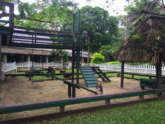 Koro Sun Resort Hotel Review: Playing on the playground