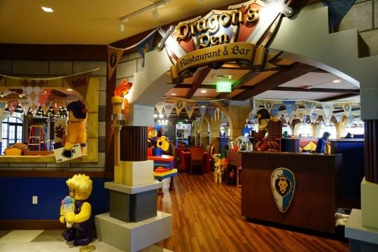 Dragon's Den at the LEGOLAND Castle Hotel California