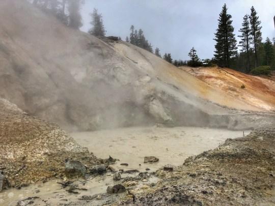 Hydrothermal mud pot at Lassen National Park