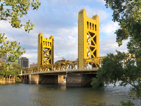 The beautiful Tower Bridge is one of many fun things to do in Sacramento