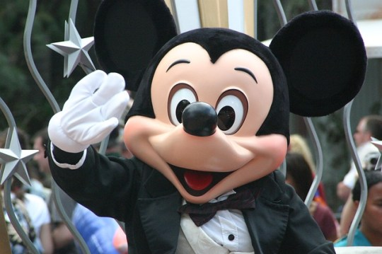 Mickey Mouse at Disneyland and California Adventure in One Day