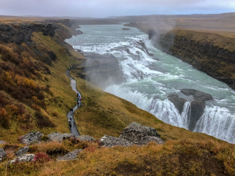 Gulfoss Waterfall is a top choice for visiting Iceland with kids