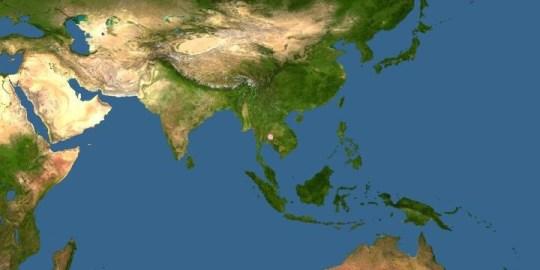 Carte de l'aire de répartition de l'espèce Desmoxytes platana