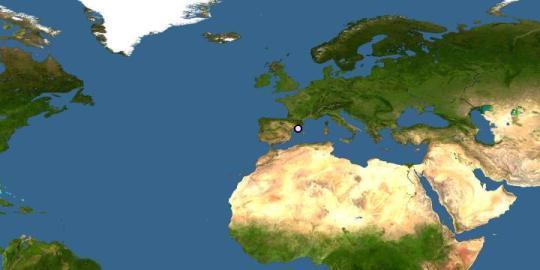 Aire de répartition de l'espèce Porcellio expansus
