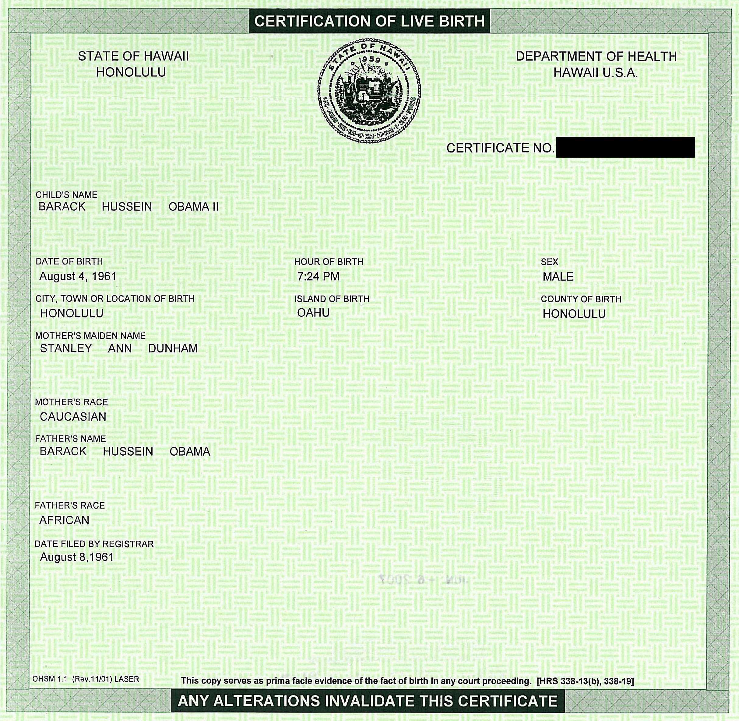 birth certificate template word – Birth Certificate Template