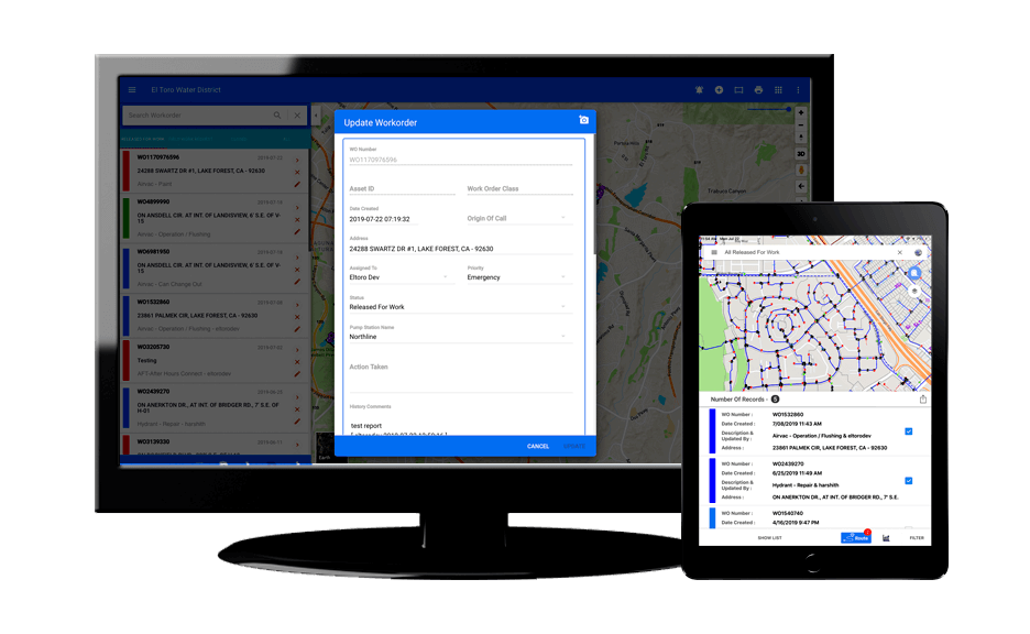 GeoViewer Work Order Online and Mobile for smarty cities