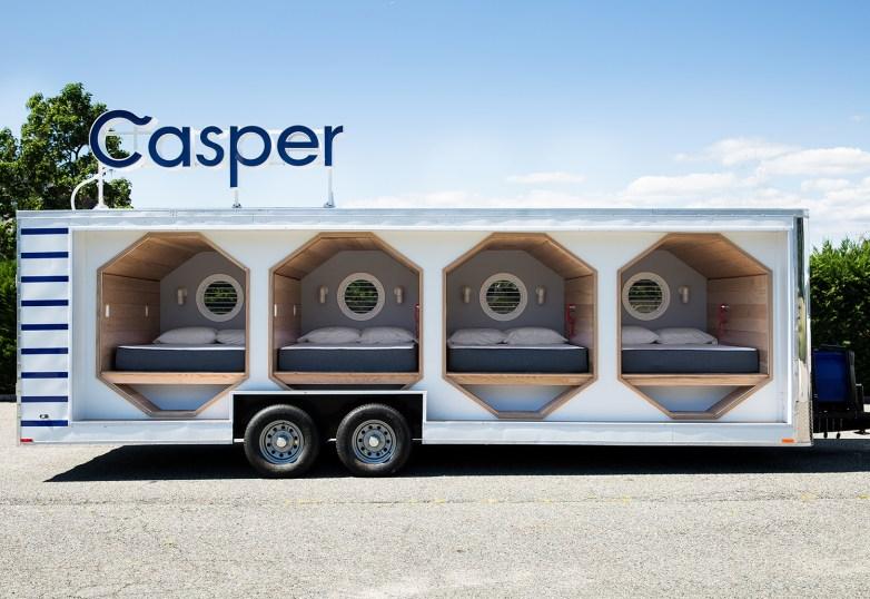 Casper's traveling Nap Trailer