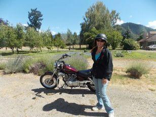 me on bike at AVL farm