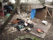 Years of garbage and debris