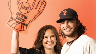 Brandon Crawford and mom, Lynn