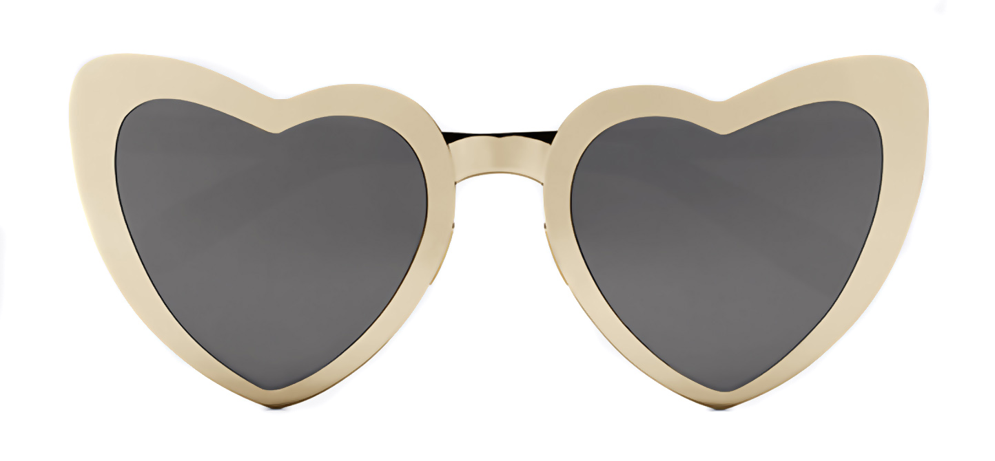 Eye heart you. Saint Laurent's New Wave 196 LouLou shades are tailor-made for true romantics; $490, ysl.com.
