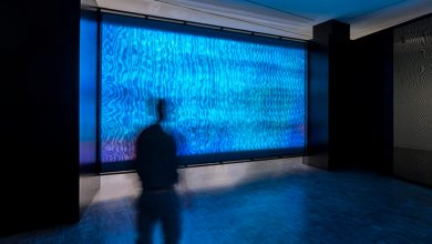 Installation view ofZheng Chongbin's 'State of Oscillation,' courtesy of Asian Art Museum.