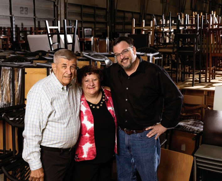 Bay Area Furniture Bank Executive Director Ray Piontek (left), Operations Manager Valérie Suarès and Development Director Joe Noonan are serving growing numbers in Santa Clara and San Mateo counties.
