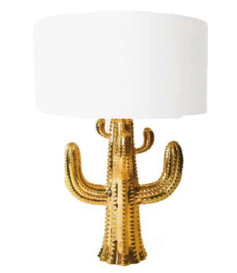 Brass Cactus Table Lamp