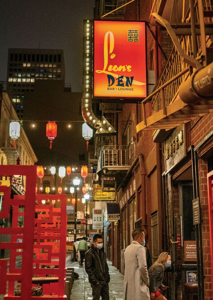 The Lion's Den is the first dedicated performance venue to open in Chinatown in 40 years, and features lush decor by designer Anna Lee Jew.