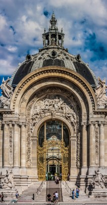 Vertical Panorama of the entrance of the Petit Palais in Paris