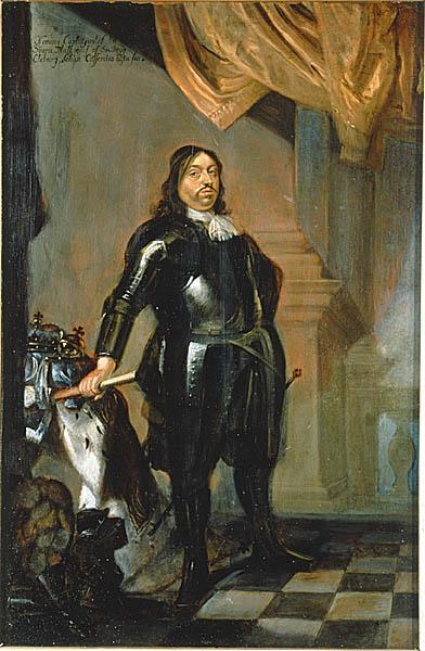 Carl X Gustav, King of Sweden Painting by Abraham Wuchters
