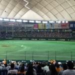 【東京ドーム観戦記】指定席B 1塁側 B10ブロックからみた光景