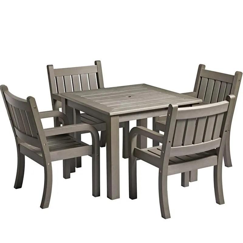 grey wood effect outdoor dining set
