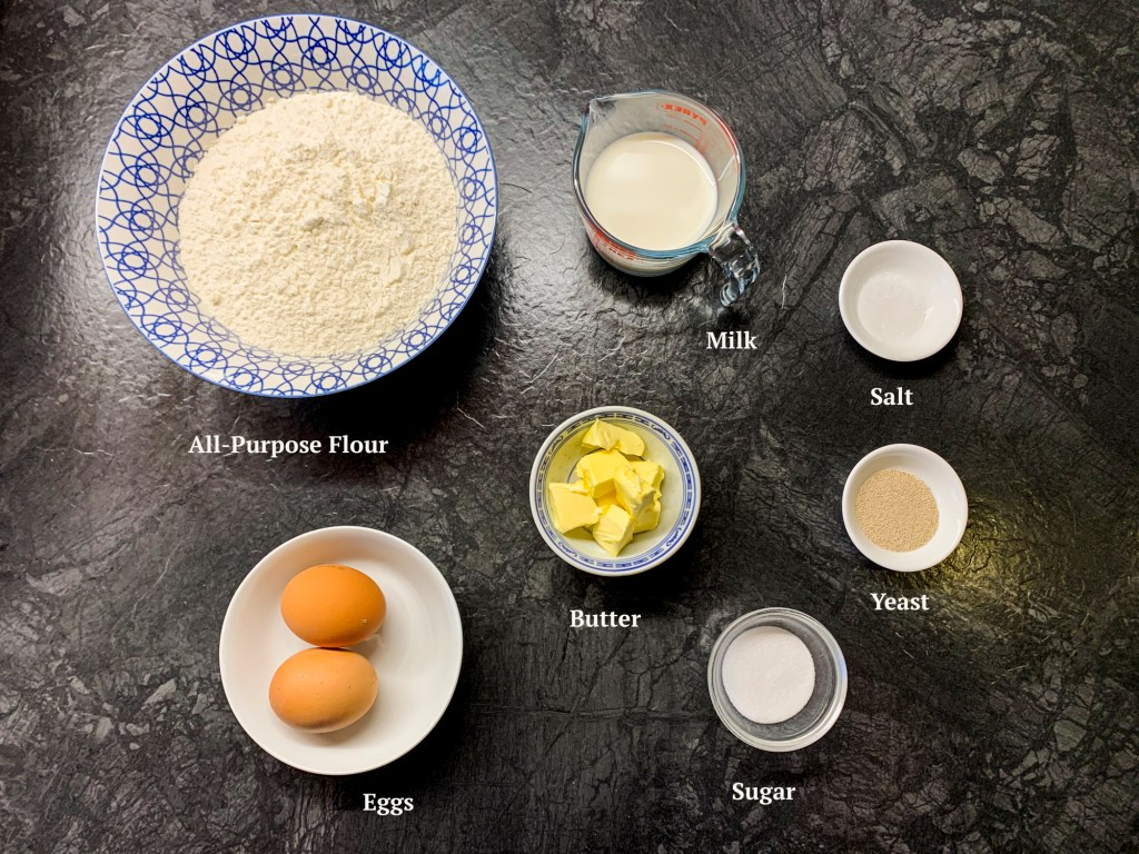 Ingredients for the Pistachio Babka Dough