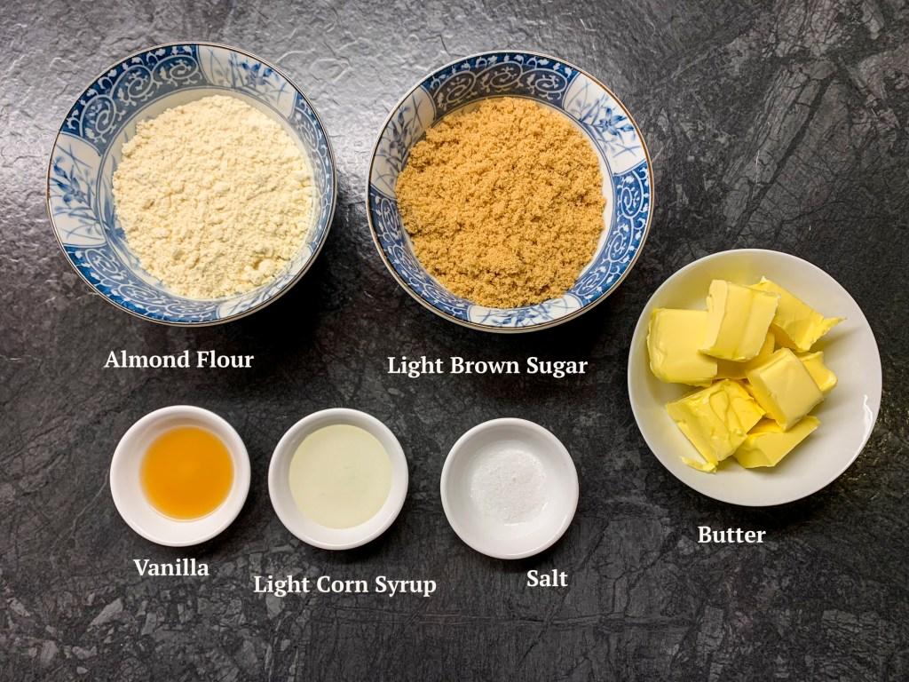 Ingredients for Caramelized Brown Sugar Cookies