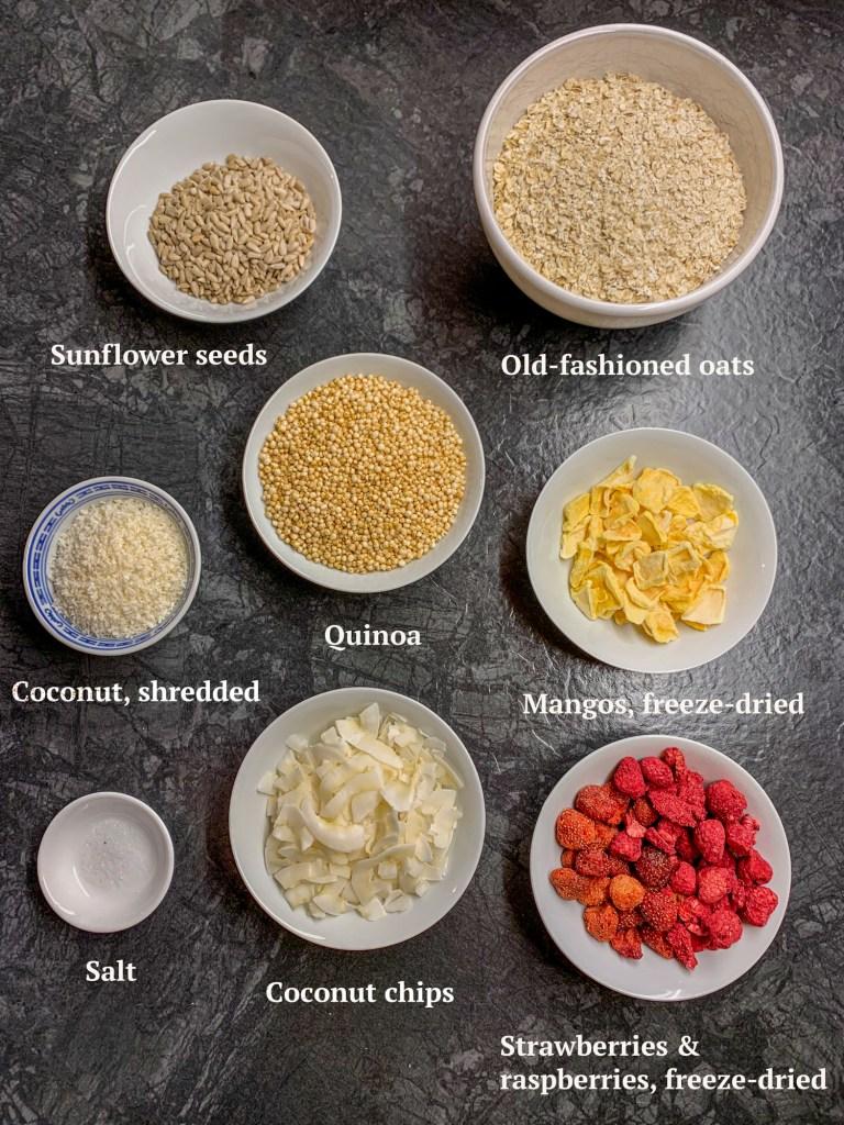 Ingredients for Summer Granola