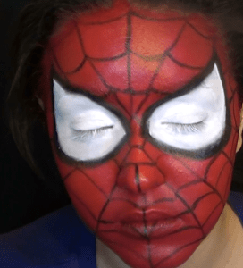 Spiderman face paint 1