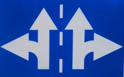 Roadsign different directions BLUE