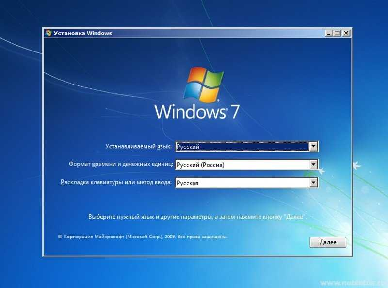 Menginstal Windows 7. Bahasa, Format Waktu, dan Tata Letak Keyboard