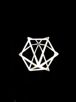 Hexagon Pendant in Designer White (Bottom view)