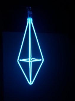 Diamond Pendant in Ice Blue