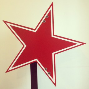 Red Star before neon. Photo by L. Hall