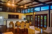Four Pavilion Home, Soqulu, Taveuni Estates, Fiji - Main Living Room and Kitchen 2