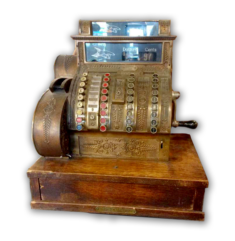 beautiful old cash register