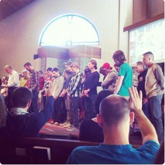a worship service at mcivor
