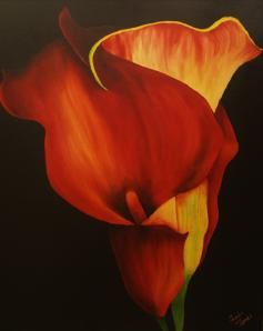 Callowlilly 24x30 on a 1 inch canvass gallery wrapped