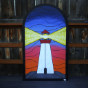 Lighthouse Beacon - Sprayed Glass