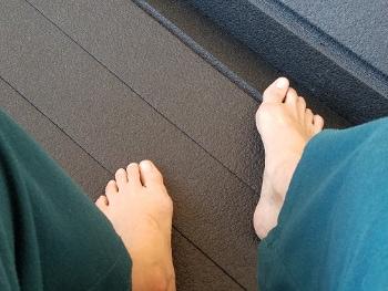 feet in stillness